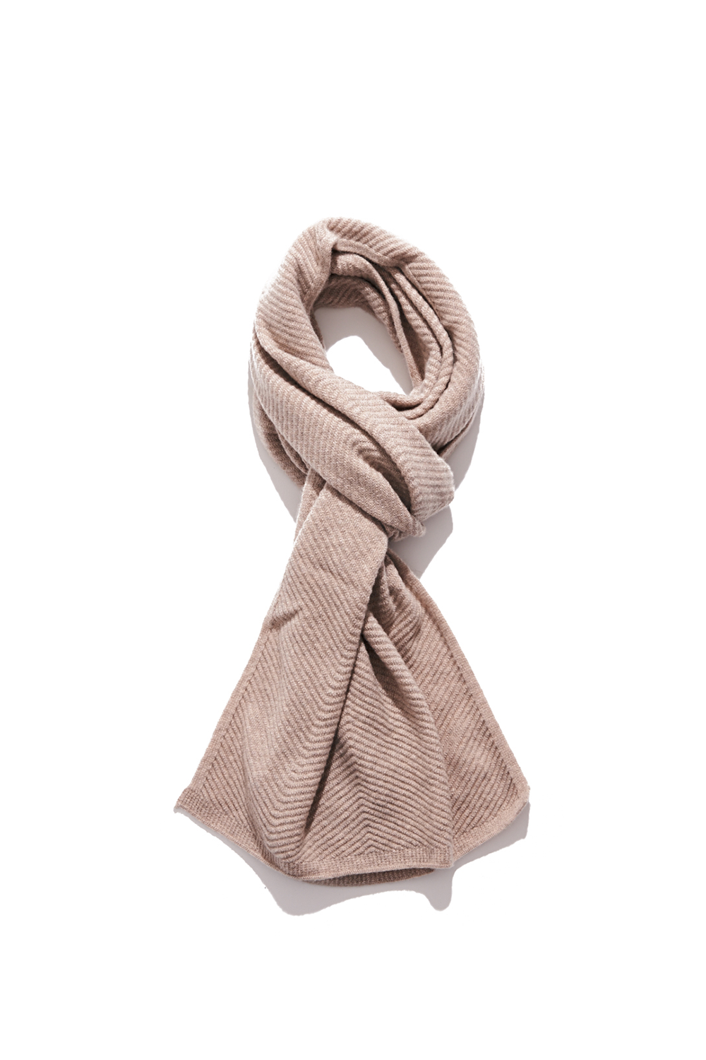 Premium pure cashmere100 whole-garment knitting shawl and scarf - Oatmeal (12월 24일 2차 재입고 완료/주문가능)