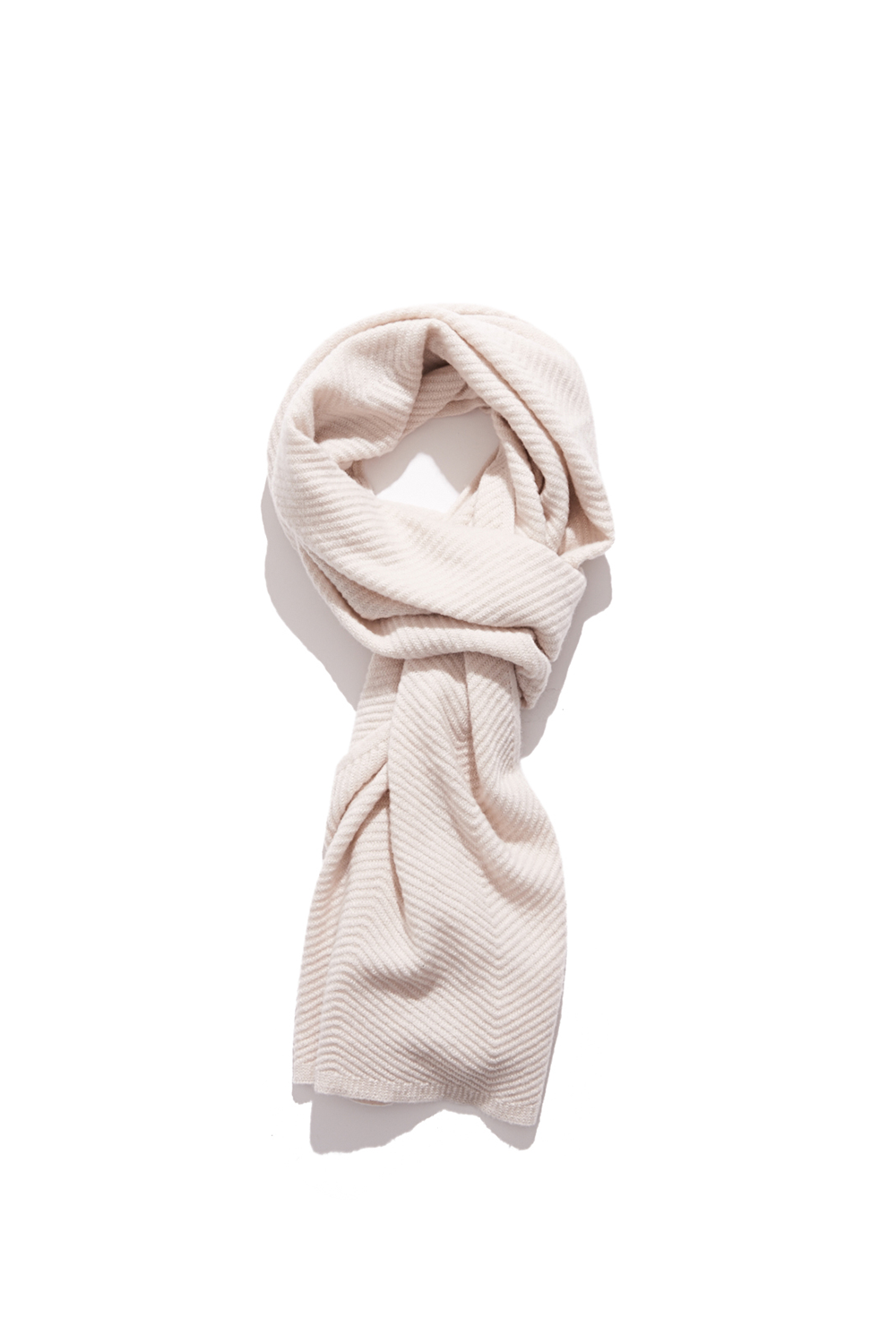 Premium pure cashmere100 whole-garment knitting shawl and scarf-Cream ivory
