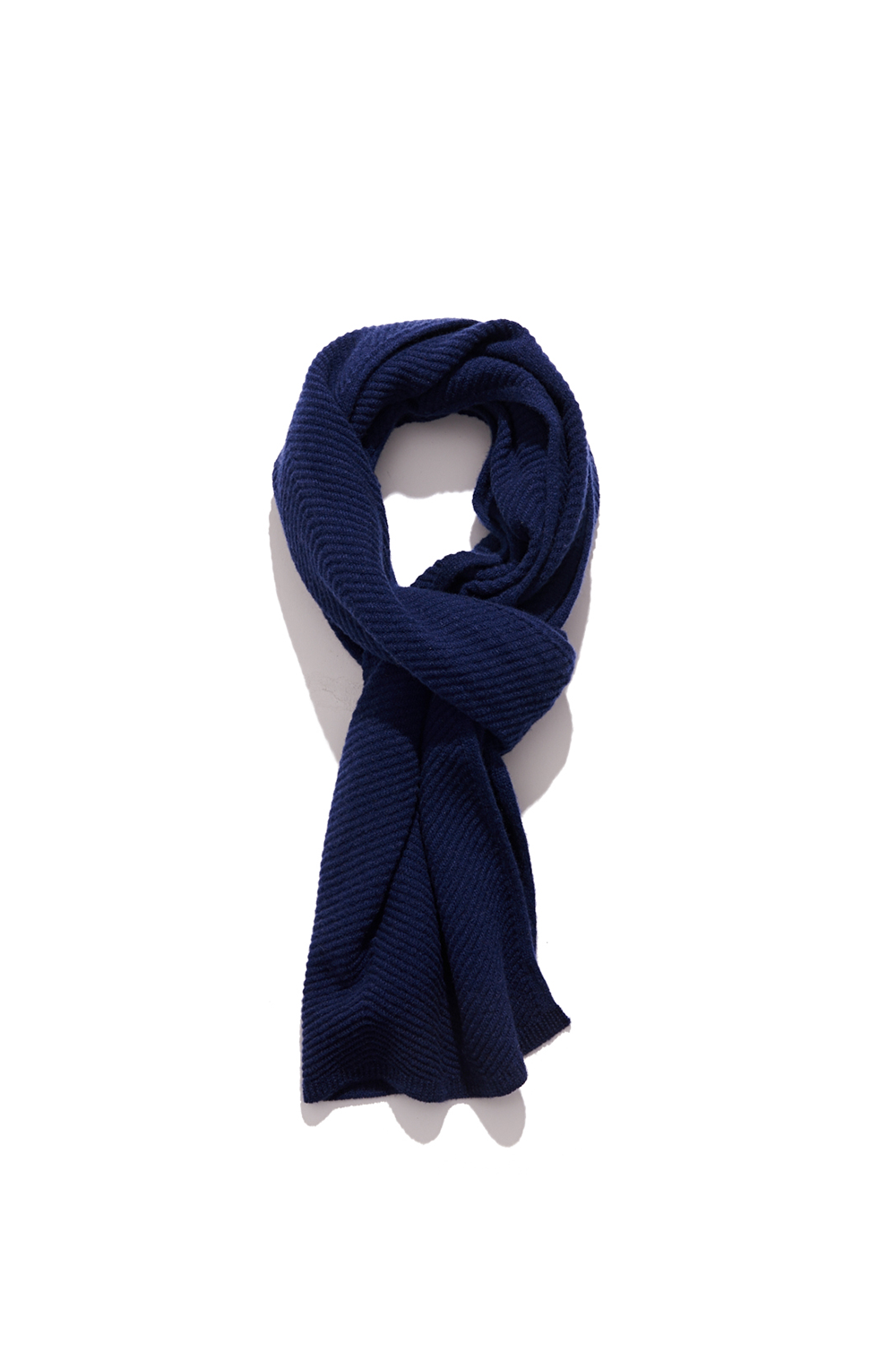 Premium pure cashmere100 whole-garment knitting shawl and scarf - Royal navy