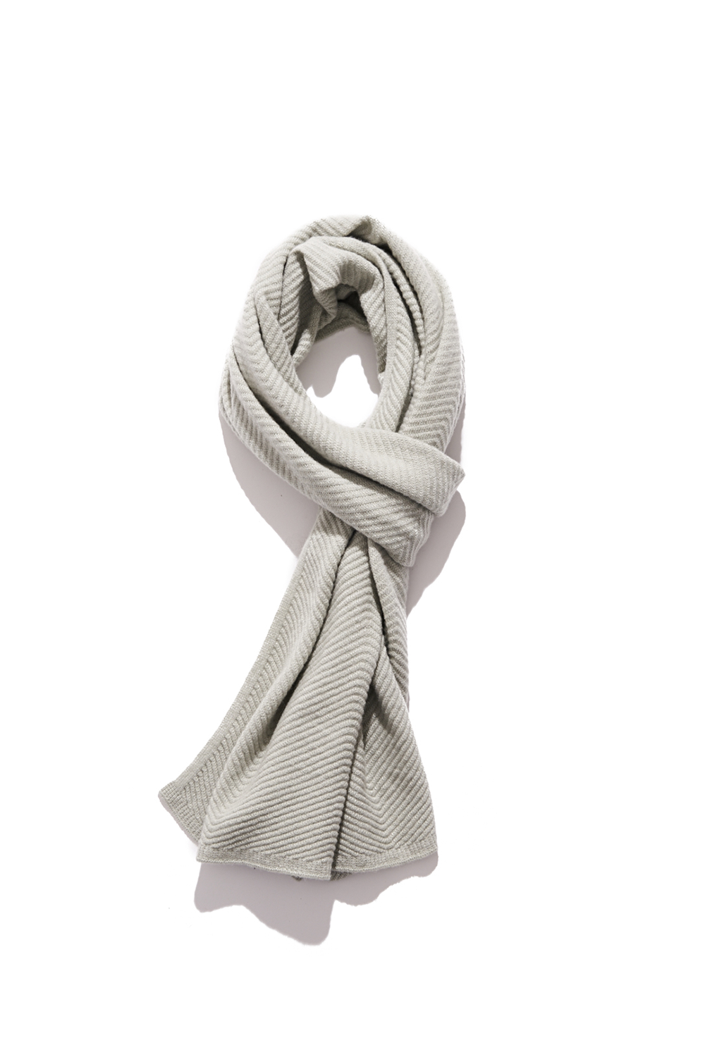 Premium pure cashmere100 whole-garment knitting shawl and scarf - Sage mint (품절 임박)
