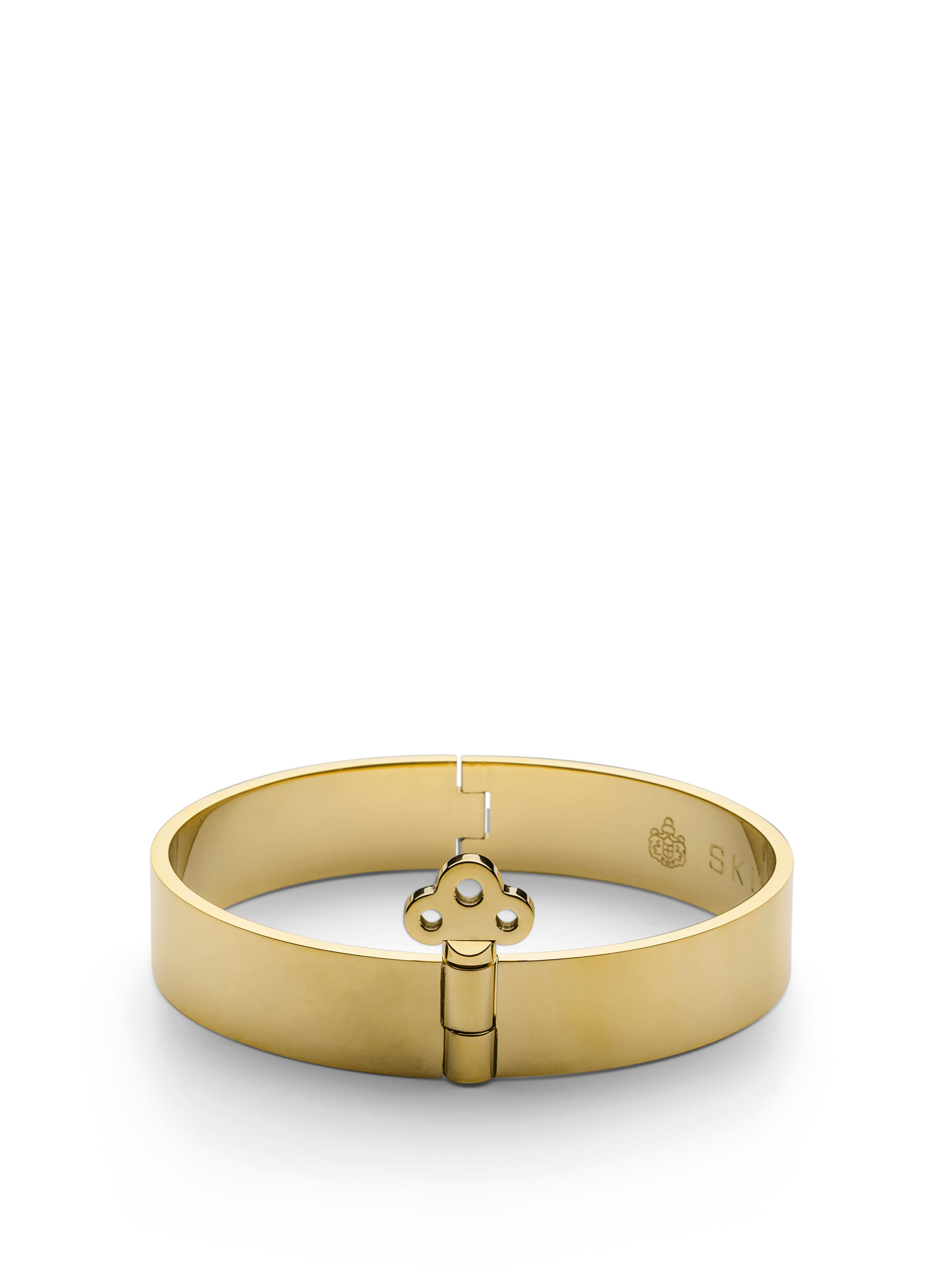 Key lock bangle - gold plated