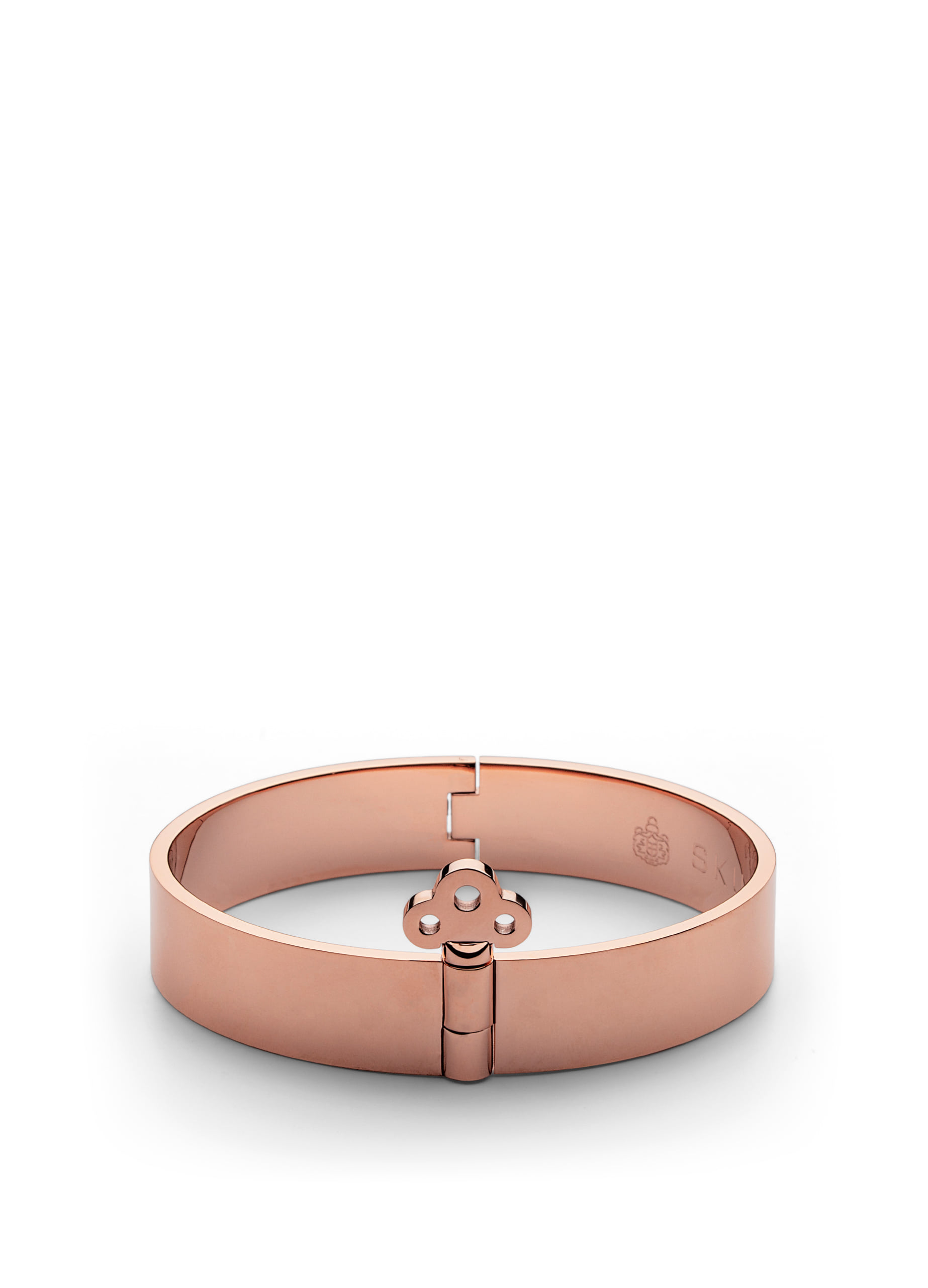 Key lock bangle - rose gold plated